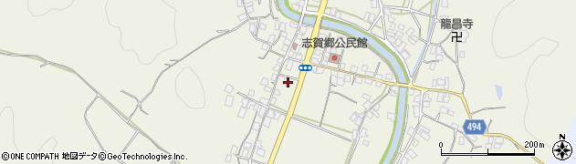 京都府綾部市志賀郷町(南町)周辺の地図