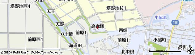 愛知県犬山市前原(高森塚)周辺の地図