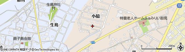 愛知県江南市小脇町(小脇)周辺の地図