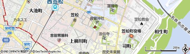 岐阜県羽島郡笠松町西宮町周辺の地図