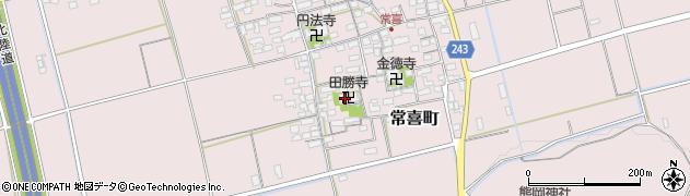 田勝寺周辺の地図