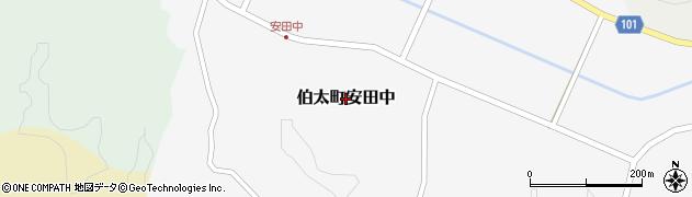 島根県安来市伯太町安田中周辺の地図