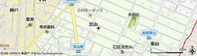 愛知県江南市般若町(宮山)周辺の地図