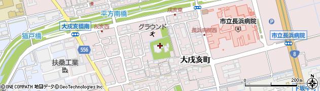 滋賀県長浜市大戌亥町周辺の地図