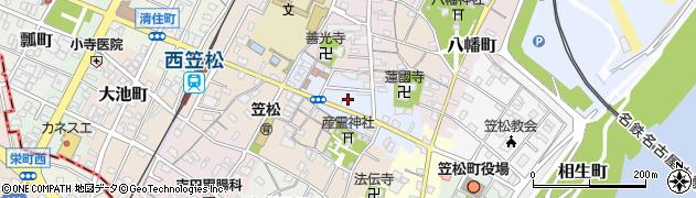 岐阜県羽島郡笠松町新町周辺の地図
