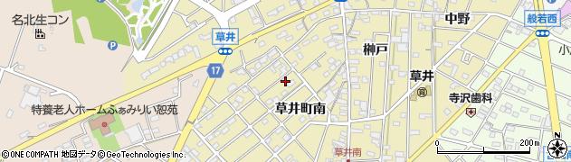 愛知県江南市草井町(南)周辺の地図