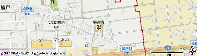 等運寺周辺の地図