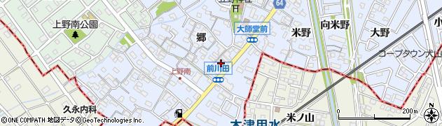 愛知県犬山市上野(前川田)周辺の地図