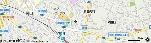 神奈川県寒川町(高座郡)岡田周辺の地図