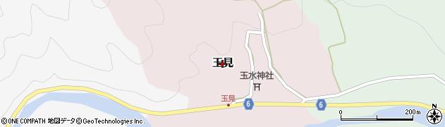 兵庫県養父市玉見周辺の地図