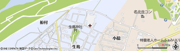 愛知県江南市鹿子島町(生島)周辺の地図