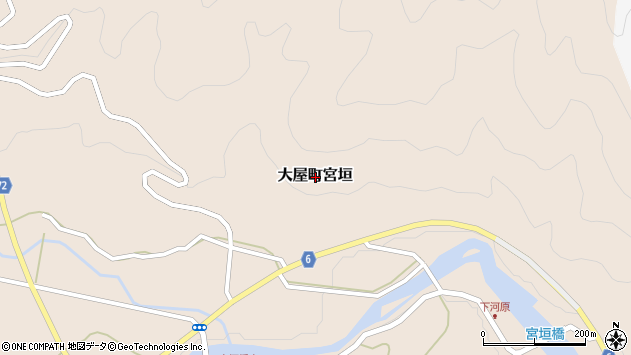 〒667-0306 兵庫県養父市大屋町宮垣の地図