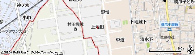 愛知県犬山市橋爪(上池田)周辺の地図