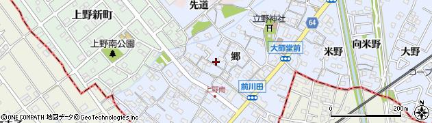 愛知県犬山市上野(郷)周辺の地図