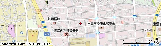 島根県出雲市今市町北本町周辺の地図