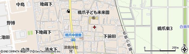 愛知県犬山市橋爪周辺の地図