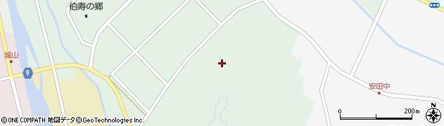 島根県安来市伯太町安田(横山)周辺の地図