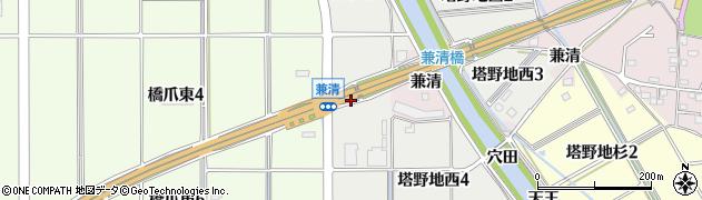 愛知県犬山市塔野地(穴田)周辺の地図