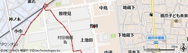 愛知県犬山市橋爪(野博)周辺の地図