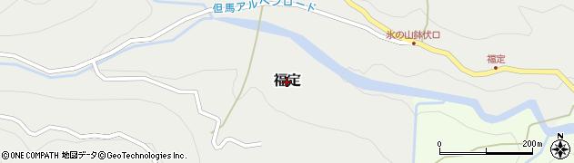 兵庫県養父市福定周辺の地図