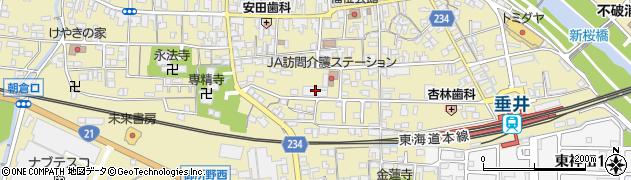 岐阜県不破郡垂井町周辺の地図