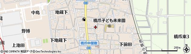 愛知県犬山市橋爪(大浦屋敷)周辺の地図