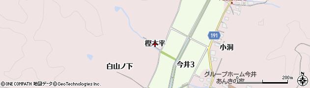 愛知県犬山市今井(樫木平)周辺の地図