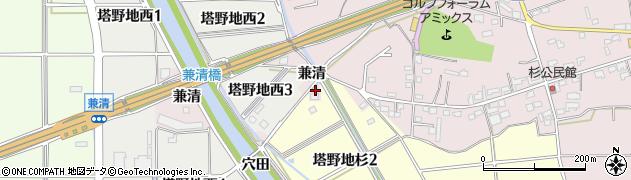 愛知県犬山市塔野地(天王)周辺の地図