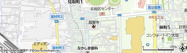 超誓寺周辺の地図
