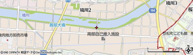 岐阜県岐阜市境川周辺の地図
