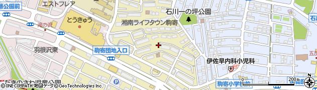 神奈川県藤沢市大庭周辺の地図