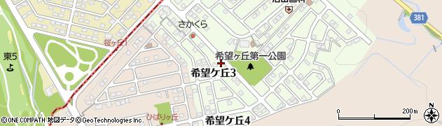 岐阜県多治見市希望ケ丘周辺の地図