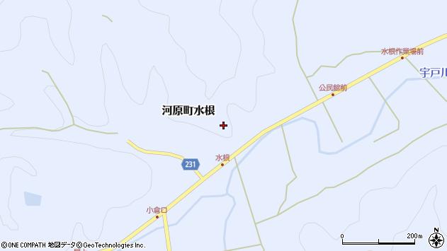 〒680-1244 鳥取県鳥取市河原町水根の地図