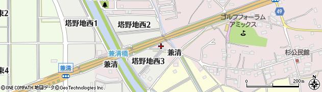 愛知県犬山市塔野地(川原田)周辺の地図