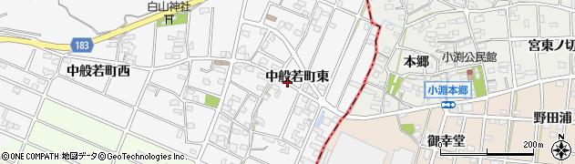 愛知県江南市中般若町(東)周辺の地図