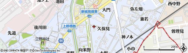 愛知県犬山市上野周辺の地図