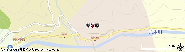 兵庫県養父市梨ケ原周辺の地図