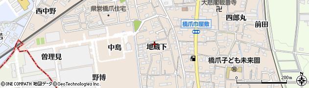愛知県犬山市橋爪(地蔵下)周辺の地図