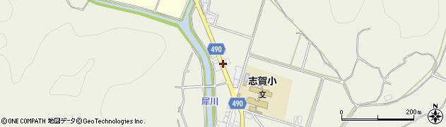 京都府綾部市志賀郷町(柿ケ坪)周辺の地図