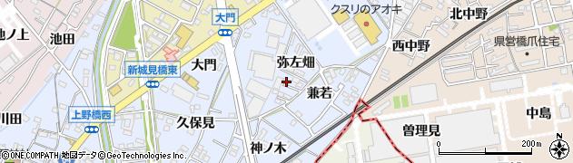 愛知県犬山市上野(弥左畑)周辺の地図