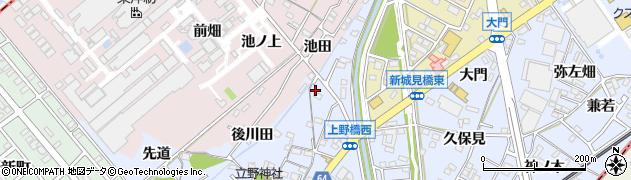 愛知県犬山市上野(後川田)周辺の地図