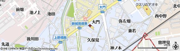 愛知県犬山市上野(大門)周辺の地図