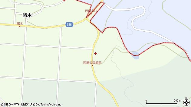 〒683-0213 鳥取県西伯郡南部町西原の地図
