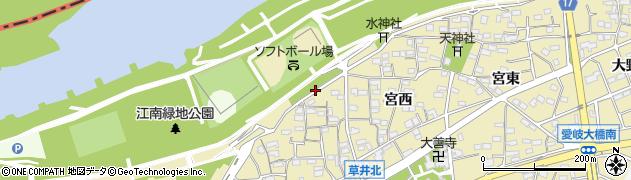 愛知県江南市草井町(中)周辺の地図