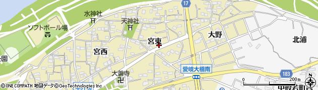 愛知県江南市草井町(宮東)周辺の地図