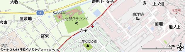 愛知県犬山市上野(寺子)周辺の地図