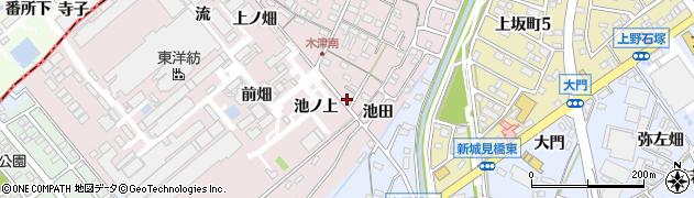 愛知県犬山市木津(池ノ上)周辺の地図