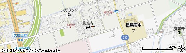 滋賀県長浜市大辰巳町196周辺の地図