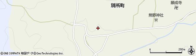京都府綾部市別所町(鍛治屋谷)周辺の地図