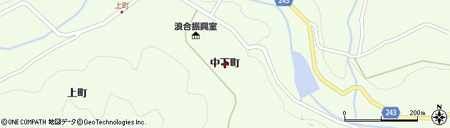 長野県阿智村(下伊那郡)浪合(中下町)周辺の地図